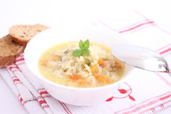 Chicken soup with rice Royalty Free Stock Image