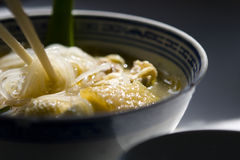 Chicken Soup Rice Noodle Stock Photography