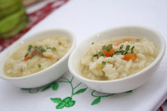 Chicken soup with rice. Some fresh chicken soup with rice Royalty Free Stock Photos