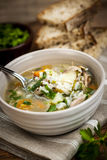 Chicken soup with rice and vegetables Stock Photos
