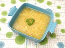 Chicken soup. Some chicken soup with noodles royalty free stock images