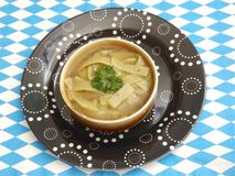 Chicken soup. Some chicken soup with noodles Royalty Free Stock Photography