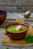 Chicken soup with the stuffed chicken neck Royalty Free Stock Photos