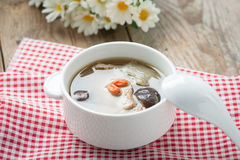 Chicken soup style Chinese in bowl. Stock Photo