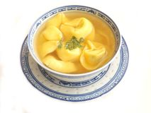 Chicken soup with tortellini Royalty Free Stock Photos