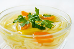 Chicken soup with vegetables Stock Photos