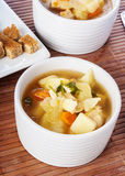 Chicken soup with vegetables Royalty Free Stock Photo