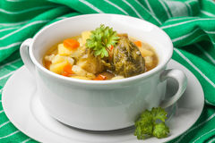 Chicken soup with vegetables. Royalty Free Stock Photo