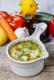 Chicken soup with vegetables Royalty Free Stock Images