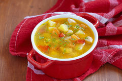 Chicken soup with vegetables Royalty Free Stock Photography