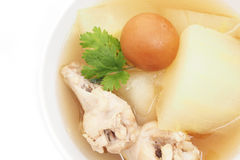 Chicken soup with wax gourd Stock Image