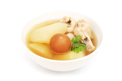 Chicken soup with wax gourd Stock Images