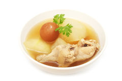 Chicken soup with wax gourd Royalty Free Stock Photo