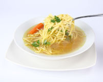 Chicken Soup With Macaroni Stock Image