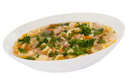 Chicken Soup With Noodles Royalty Free Stock Images