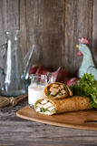 Chicken Southwest Wrap Royalty Free Stock Photo