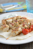 Chicken souvlaki Royalty Free Stock Image