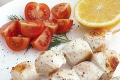 Chicken souvlaki Stock Photo