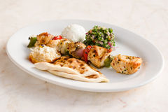 Chicken Souvlaki Royalty Free Stock Photography