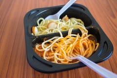 Chicken spaghetti with tomato sauce Royalty Free Stock Photos