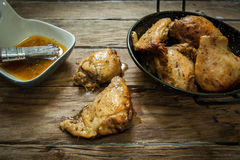 Chicken with spices royalty free stock photo