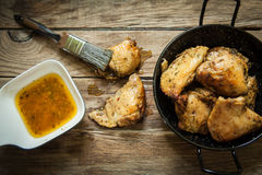 Chicken with spices Stock Images