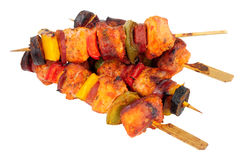 Chicken And Spicy Chorizo Kebabs Royalty Free Stock Photos