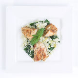 Chicken & Spinach dish # 4 Stock Photography