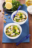 Chicken with sprouts walnuts parmesan Royalty Free Stock Photography