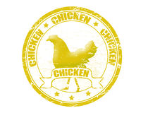 Chicken stamp Stock Images