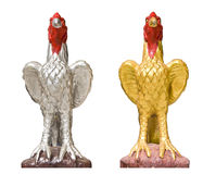 Chicken statue isolated Stock Photos