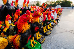 Chicken statues Stock Image