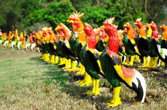 Chicken statues Royalty Free Stock Image