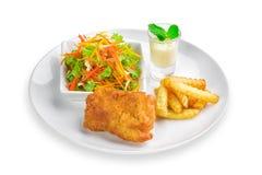 Chicken Steak deep fries Stock Photography