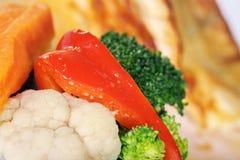 Chicken steak with garnish Stock Image