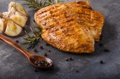Chicken steak grilled Stock Images