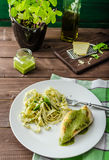 Chicken steak with home pesto Royalty Free Stock Photo