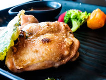 Chicken steak in Japanese style Royalty Free Stock Photography
