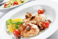 Chicken steak with salad Stock Image