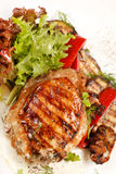 Chicken Steak with vegetables Royalty Free Stock Photo