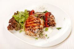 Chicken Steak with vegetables Royalty Free Stock Photography