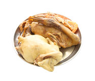Chicken steamed and duck stewed Royalty Free Stock Images