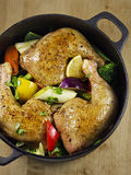 Chicken Stew. Wit Vegetables and Lemon Stock Image