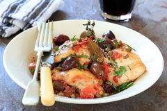 Chicken Stew. Or cacciatore, with red wine Stock Photography