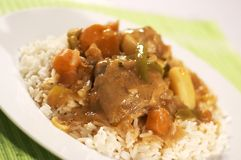 Chicken Stew. With rice Royalty Free Stock Photos