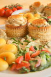 Chicken stew. Close up of delicious chicken stew in pastry Royalty Free Stock Image