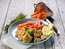 Chicken  stew with carrots Royalty Free Stock Image