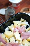 Chicken stew in detail Stock Photos