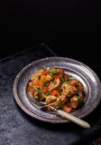Chicken stew with onion, pepper ant tomato Royalty Free Stock Image