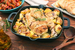 Chicken stew with potatoes and spices Stock Photography
